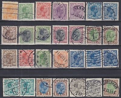 574) Danmark - Denmark 1913 / 1918  -  Used Selection -