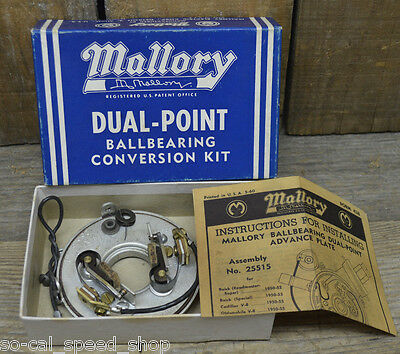 Nos In Box Mallory 1950-59 Gm Dual Point Conversion Kit Hot Rod Olds Cadillac