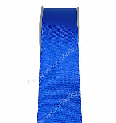 "5y 50mm 2"" Electric Blue Premium Single Sided Wide Satin Ribbon Eco FREE PP"