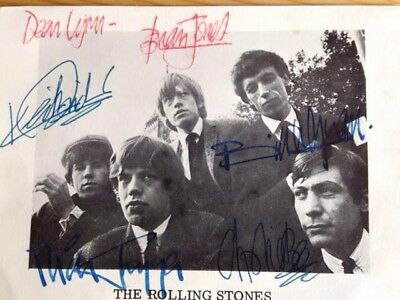 Signed Photograph of The Rolling Stones - signed Brian Jones + all