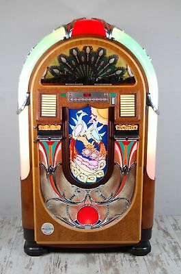 Wurlitzer Vintage 850 Peacock 100 Cd Golden Age Jukebox