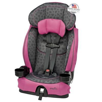 Evenflo Chase LX Harnessed Booster Car Seat - Tonal Hearts