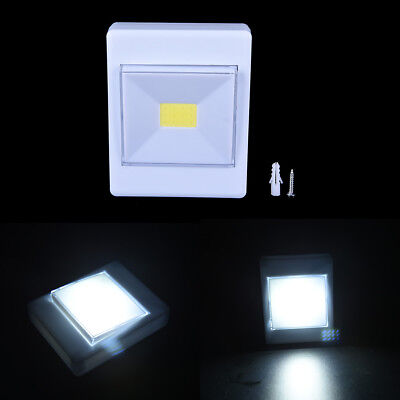 COB LED Magnetic Wall Night Lights Camping Lamp Battery Operated Cabinet LightSK