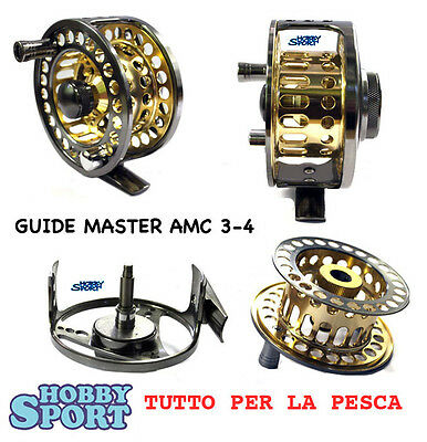 Fly Reel Mulinello Mosca  Line 3-4  Rapture Trabucco Guide Master Amc Gold