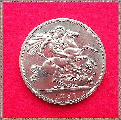 1951 GEORGE VI FESTIVAL OF BRITAIN CROWN (5/-) COIN. unc