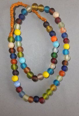 Necklace Strand Colored Glass Beads Nepal