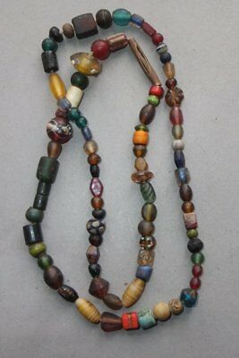 Necklace Strand Different Old Glass Beads Nepal