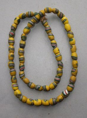 Necklace Strand Old Colored Glass Beads Nepal