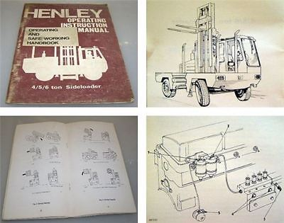 Henley Sideloader 4 - 6ton Operating Instruction Manual