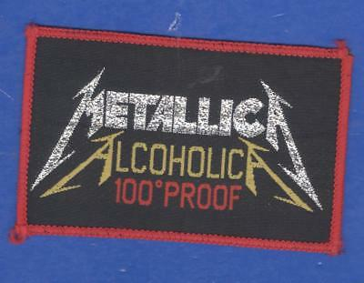Metallica Alcoholica vintage 1980s SEW-ON PATCH