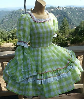 """Halloween Story-Book SQUARE DANCE DRESS & Bloomers  Med - Bust 38"""" W-30"""" L 20"""""""