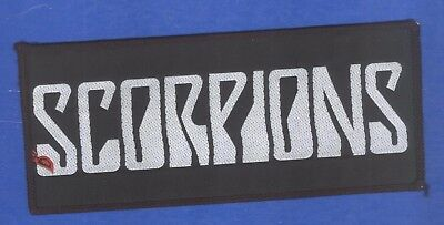 Scorpions logo obong vintage 1980s SEW-ON PATCH