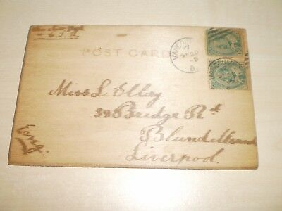 1905 Wooden Comic Postcard From Vancouver Canada