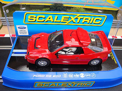 C3319 Brand New Boxed Scalextric Ford  Rs200 Collector Centre Car With Lights