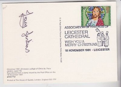 Gb Stamps 1981 Christmas Phq First Day Signed By Artist Tracy Jenkins Age 14