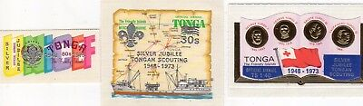 Tonga 1973 Silver Jubilee Scouting Set `official` O103 / O105 Self Adhesive