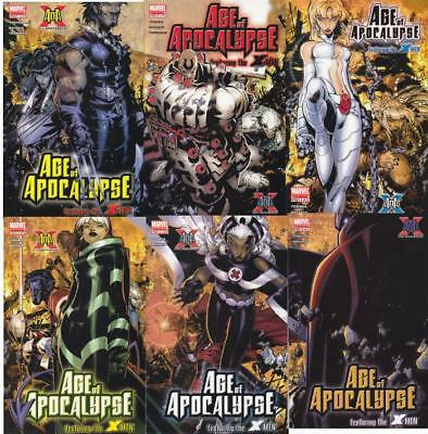Age Of Apocalypse #1, 2, 3 , 4, 5, 6 X-Men Limited Series Full Set Marvel Comics