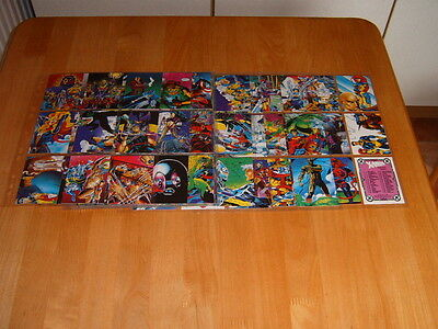 set of 90 Comic Images X-Men 1991 trading cards Ex. Cond.