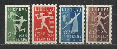 (W102) LITHUANIA – 1938 Olympiad Fund Un-Mounted Mint Set