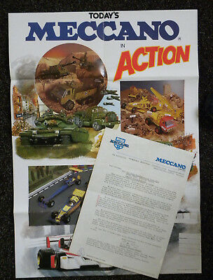DINKY - MECCANO poster & letter from 1979.