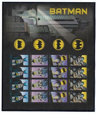 Usa Mnh Batman Forever Stamps S/sheet Po Fresh Starts At Face Value