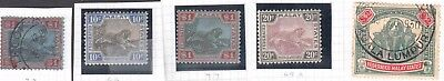 MALAYA TIGERS & ELEPHANTS $150+ SOUND COLLECTION LOT 5 BETTER STAMPS 99c NO RES
