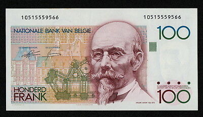 BELGIUM (P142a) 100 Francs ND(1982) aUNC+ sign. Genie / Godeaux