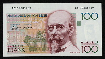 BELGIUM (P142a) 100 Francs ND(1982) UNC sign. Droogenbroeck / Verplaetse