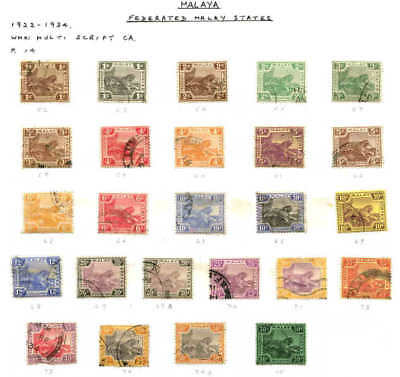 MALAYA TIGERS SG #S COLLECTION LOT 25 STAMPS SPECIALIST $$$$$$$ 99c NO RESERVE