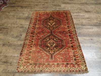 Ca 1930s VG DY ANTIQUE PERSIAN QASHQAI YALAMEH SERAPI 3.4x5.2 ESTATE SALE RUG