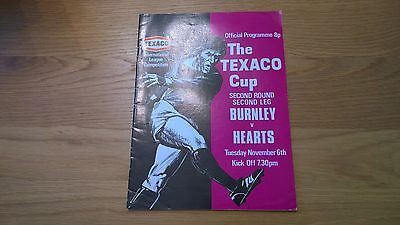 1973/74 Burnley v Hearts - Texaco Cup