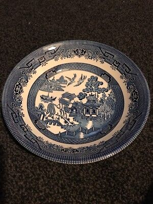 Churchill BLUE & WHITE WILLOW PATTERN 9 INCH SERVING BOWL