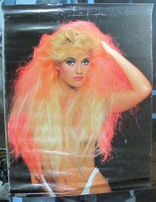Vintage Pin Up Girl Poster 1988 One Stop Posters Silvermoon Blonde Big Hair