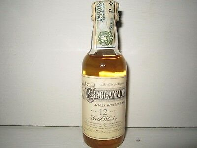 miniature mignon whisky CRAGGANMORE 12 years SINGLE MALT