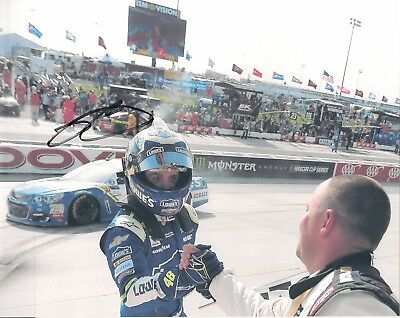 Jimmie Johnson 2017 DOVER VICTORY MONSTER ENERGY LOWES 8x10 autographed photo