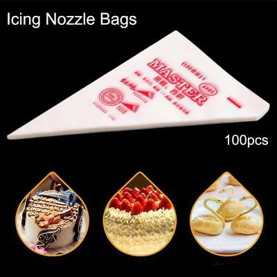 100X Disposable Piping bag Icing Nozzle Cake Decorating Pastry Tool 275*170mm PS