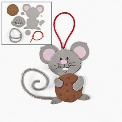 """24 ~ Mouse Cookie Ornament Craft Kits ~ 3 1/2"""" ornament ~ New / Individually ~ 3"""