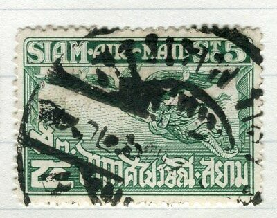THAILAND;  1925 early Garuda Air issue fine used 5s. value