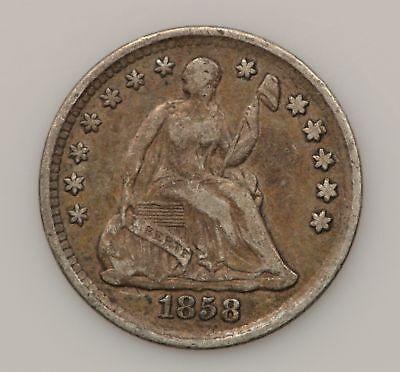 1858-P Seated Liberty Silver Half Dime *G86