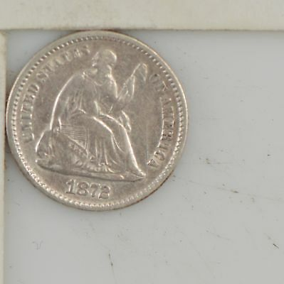 1872 Liberty Seated Half Dime *Z84