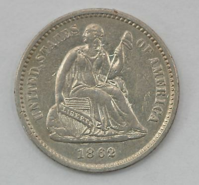 1862 Seated Liberty Silver Half Dime *Q53