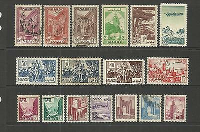 French P.o. Morocco ~ 1917-56 Small Collection