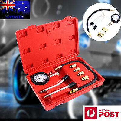 Automotive Compression Gauge Cars Motorcycles Petrol Engine Tester Kit Tool Set