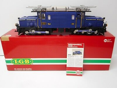 LGB 24402 Blue RHB Alpine Express Electric Crocodile Locomotive w/Sound G Scale