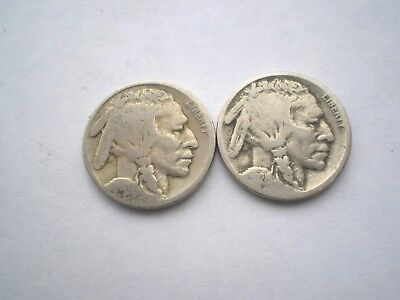 2 Early Indian Head  5 Cent Coins From- Usa-As Pictured