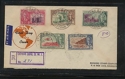 Cayman  Islands  registered first day cover          KL0701