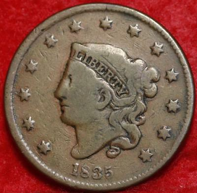 1835  Philadelphia Mint Copper Coronet Head Large Cent Free S/H