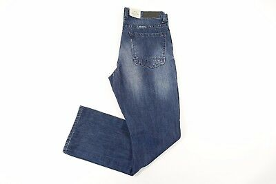Kenneth Cole Reaction Distressed Blue 30X30 Straight Leg Jeans Mens Nwt New