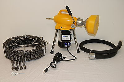 """S75 BLUEROCK ® 3/4"""" to 4"""" Sectional Pipe Drain Cleaning Machine Snake Cleaner"""