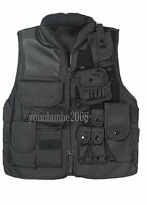 Swat Airsoft Tactical Hunting Combat Vest Black-34040